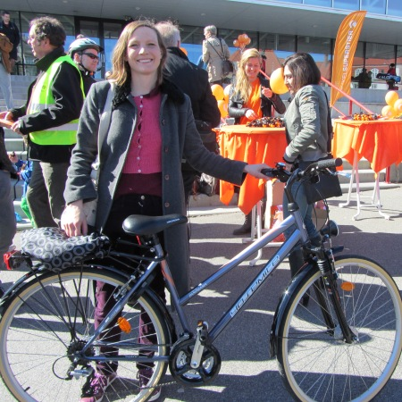 Rachel with bike - Copenhagen