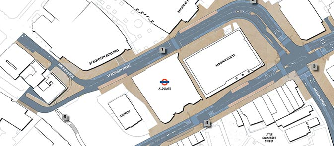Aldgate Highway Changes