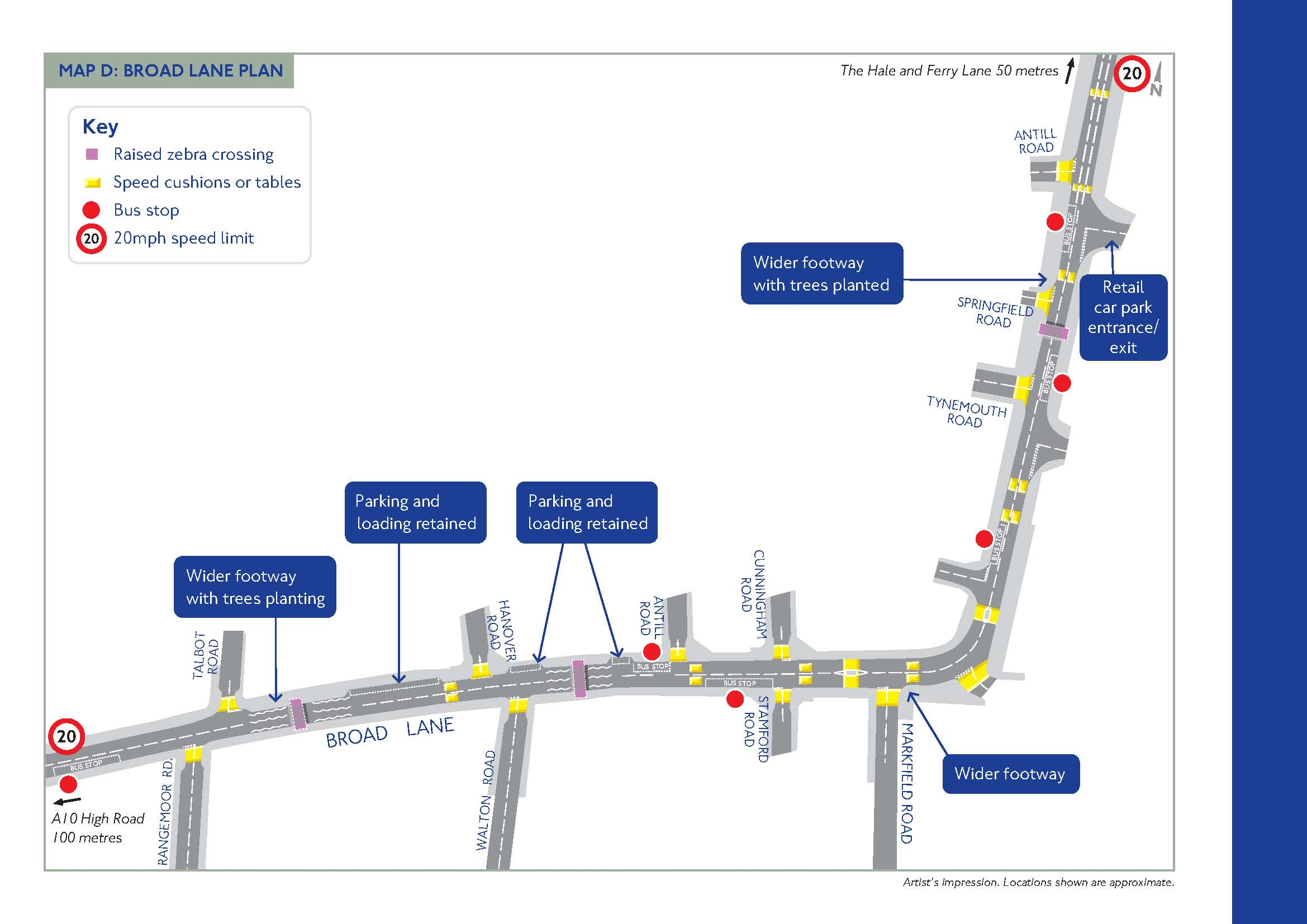The plans for Broad Lane (courtesy TfL)