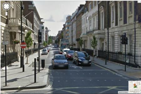 New Cavendish Street. A cycle route.