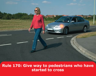 The Highway Code mandated pedestrian priority in this situation; yet, drivers and pedestrians are unaware of this rule.