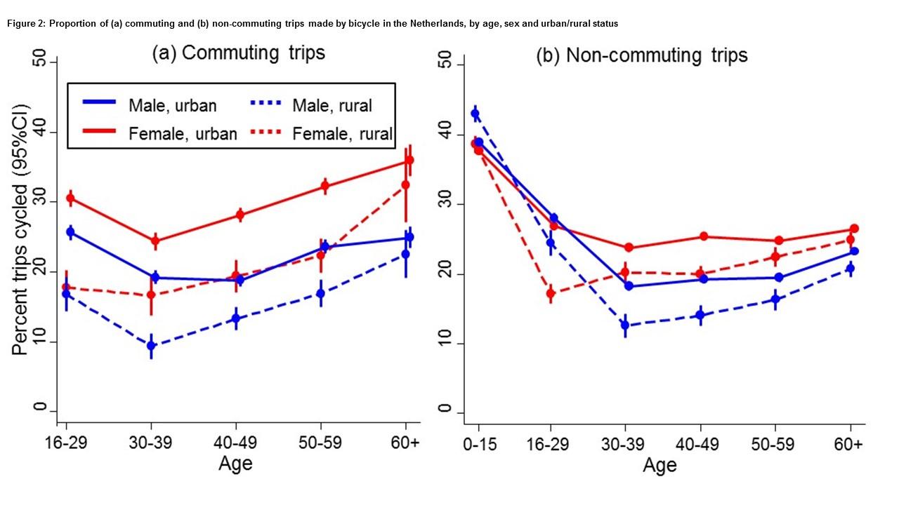 Graph: Anna Goodman, from Dutch National Travel Survey data