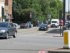Wick Rd, junction at East end of scheme