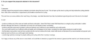 My response to the Wick Road scheme